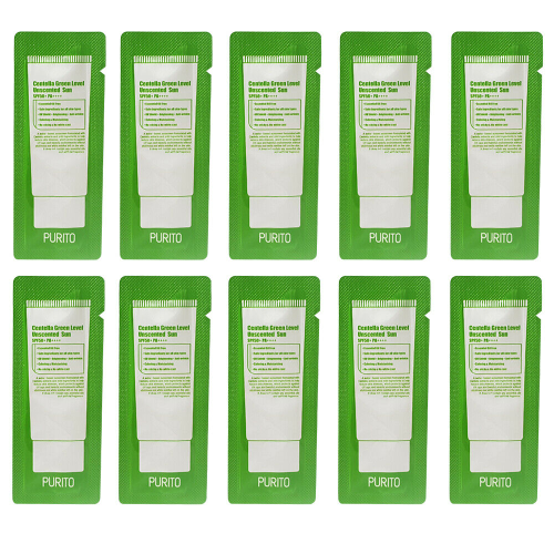 PURITO Centella Green Level Unscented Sun SPF50+ PA++++Sample 10pcs
